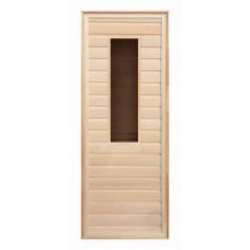 Дверь липа прямоугольное стекло (коробка хвоя) 1900х700
