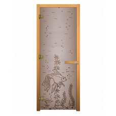 Дверь стеклянная Сатин Матовая РЫБКА 1900х700мм
