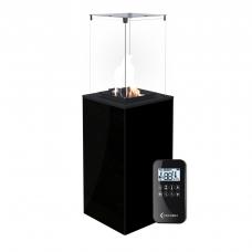Газовый обогреватель Kratki PATIO/G31/37MBAR/CZ  (уличный) - черное стекло, с пультом ДУ (8,2 кВт)
