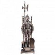 Каминный набор D50011АS (К3050S) (рыцарь, серебро)