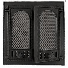 126 НТТ каминная дверца со стеклом двухстворчатая