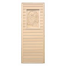 Дверь глухая липа с рисунком (коробка осина) 1900х700