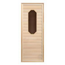 Дверь липа, восьмиугольное стекло (коробка хвоя) 1900х700