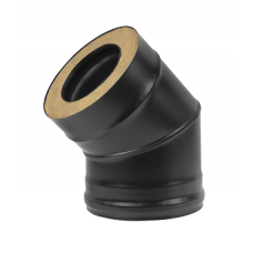Сэндвич-колено BLACK (AISI 430/0,8мм) 45* 2 секции (115х200)