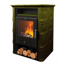 Печь-камин VERA 6 кВт (зеленая)