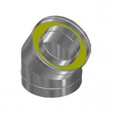 Сэндвич-колено Оц+Нерж (AISI 430/0,5мм) 45 градусов 2 секции (100x200)