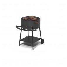 Мангал Везувий Дачник с чугунной плитой Gurman Ø450мм на подставке